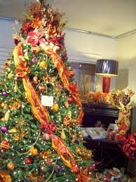 christmas tree with mesh ribbon - Google Search