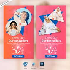 Fashion instagram stories ads banners Pr... | Free Psd #Freepik #freepsd #freebanner #freesale #freefashion #freeinstagram