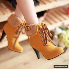 timberland boots - Fashion for Women - http://theshoppingfans.com/timberland-boots. i have a coat these would match perfectly!