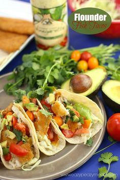 Flounder Fish Tacos Recipe is a quick and easy dinner solution! 20 minute meal and healthy too #ad #samsclubseafood- Eazy Peazy Mealz