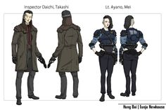 ArtStation - Neo-Tokyo & Neo-Paris Police Force Concept., Hung Bui