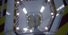 Sci-fi Vertical Airlock, David Pištělák on ArtStation at https://www.artstation.com/artwork/be28v