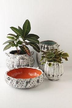 White Rustic Pots