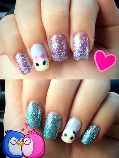 Tsum Tsum! Donald and Daisy nails!
