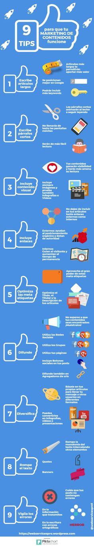 9 consejos para que tu marketing de contenidos funcione. Estrategia de redes sociales para promocionar tu pequeño negocio.