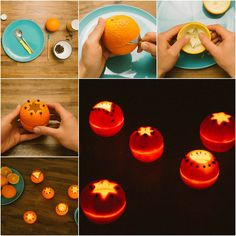 Creative Ideas - DIY Cute Orange Rind Lanterns | iCreativeIdeas.com Follow Us on Facebook --> https://www.facebook.com/iCreativeIdeas