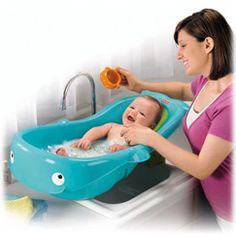 Precious Planet Whale of a Tub $23-Bathtime fun that grows from infant to toddler!