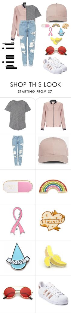 """""""Pretty with Pins"""" by rxchelcadano ❤ liked on Polyvore featuring Madewell, Miss Selfridge, Topshop, ban.do, Georgia Perry, Bling Jewelry, Stay Home Club, PINTRILL, ZeroUV and adidas"""