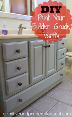 Painting Bathroom Cabinet painting cabinets (and using shortcuts | painted bathroom cabinets