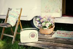 Boutique 'Glamping' in a vintage inspired caravan-like the boards for kicking shoes onto before entering