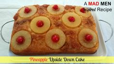 My roommate and I decided to host a Mad Men Party and she made this delicious Pineapple Upside Down Cake. It is very easy ...