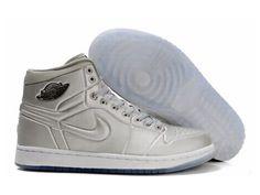 F4T6J086 authentique Nike Air Jordan 1 Retro Chaussures Tous Hommes Argent Chaussures, nike air jordan retro 1 pas cher