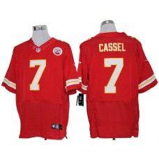 Nike Matt Cassel Jersey Elite Team Color Red Kansas City Chiefs #7
