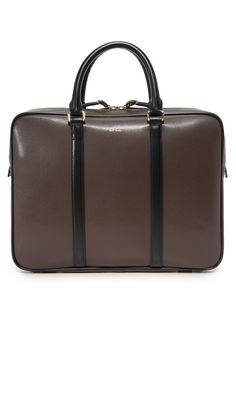 PAUL SMITH Chocolate Leather Portfolio. #paulsmith #bags #leather #hand bags #