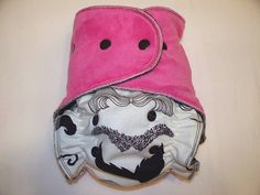 One Size Hybrid Fitted Cloth Diaper in Mustache with by SootheBaby, $24.00 - Because girls love mustache diapers, too!