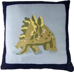 Pem America Dino Dave Pillow by Pem America. $44.99. Pre-washing provides a natural worn look. Filled with 100% Natural Cotton Each Pillow is 14 inches x 14 inchs Machine Wash cold/gentle, no bleach, tumble dry. Pattern and size may vary due to hand crafting.