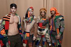 Backstage Moschino FW15/16 Menswear Fashion Show