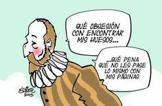 Los huesos de Cervantes...