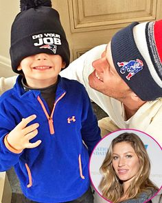 The Brady bunch is bundling up! Gisele Bundchen shared several adorable family photos of her Super Bowl XLIX MVP husband Tom Brady and their son Benjamin celebrating the New England Patriots' victory on the day of the team's parade in Boston, on Wednesday, Feb. 4.