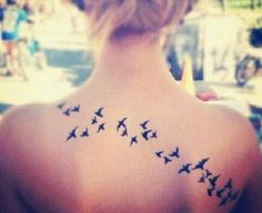 Sparrow tattoos... lots of sparrows.