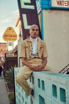 Dudley O'Shaughnessy photographed by Alexandra Leese and styled by Zoe Costello, for the latest issue of Flaunt magazine.
