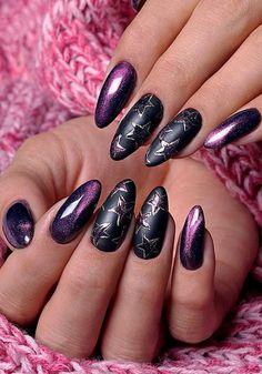 27 pink nails designs to look romantic and girly page 64 Nails Yellow, Purple Nails, Nail Pink, Diy Nails, Cute Nails, Nail Art Printer, Chrome Nail Art, Cat Eye Nails, Nail Polish