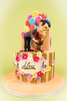 Mr Bean Birthday Cake - Cake by Crazy Sweets Mr Bean Cake, Bean Cakes, Mr. Bean, Mr Bean Birthday, Fondant Cakes, Cupcake Cakes, Movie Cakes, Cake Shapes, Character Cakes