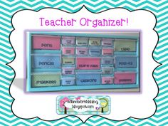 FREE labels for a teacher organizer!