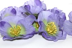 11 Lavender Poppies  Silk Flowers  3 inches by simplyserra on Etsy, $8.25