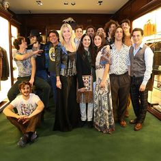 Kean Etro Constanza Cavalli Etro and Veronica Etro with #thecircleofpoets at the Etro Boutique in via Montenapoleone Milan #thecircleofpoets #thecircleisallaround #ArtETRO by etro_official