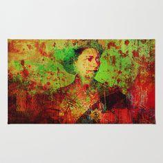Queen Lisa Area & Throw Rug by Ganech joe - $28.00