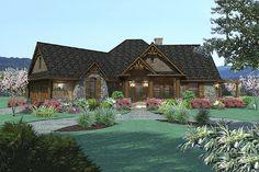 Craftsman Style House Plan - 3 Beds 2 Baths 1848 Sq/Ft Plan #120-171 Front Elevation - Houseplans.com