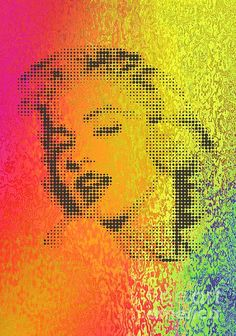 marilyn on colour filter Color Filter, China, Curtains, Wall Art, Marilyn Monroe, Movie Posters, Colour, Cross Stitch, Color