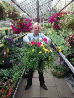 Getting the hanging baskets ready for Darlington Town Centre!