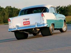 1955 Chevy Drag Car.