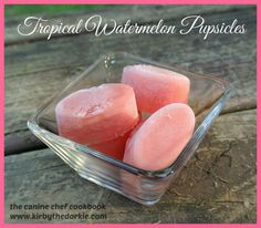 Watermelon Popsicle Pupsicle Dog Treat #Recipe - What better way to keep your #dog cool and hydrated than with a delicious watermelon ice pop!