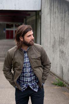 Baker Jacket | Bridge & Burn i want y man to grow his hair like this!