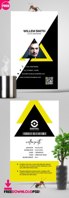 50 best id card template images card templates id card template