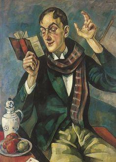 Roman Kramsztyk, Portrait of poet Jan Lechon on ArtStack #roman-kramsztyk #art 1919