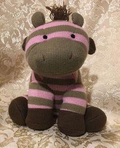 "Animal Adventure Baby ZEBRA Pink Green Brown Stripes 8"" Plush Knit With Love  | eBay"