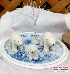DIY Penguin and Bear Winter Scenes (click to see the Penguins!) https://benfranklincraftsmonroe.blogspot.com/2016/11/diy-penguin-and-bear-winter-scenes.html
