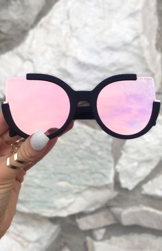 rose gold sunglasses, Chloe Sunnies, TopFoxx sunglasses, women's reflective mirrored eyewear, pink sunglasses