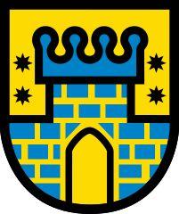 Coat of arms of Güssing, Burgenland, Austria Gypsy Trailer, City Logo, Coat Of Arms, Symbols, Logos, Austria, Art, Communities Unit, Crests