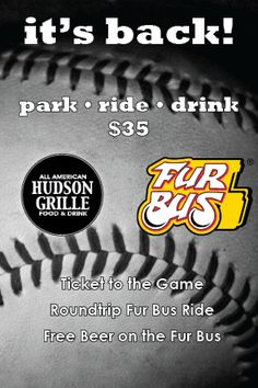 Park...Ride...Drink for only $35 per person! Come pick up a schedule today! Free Beer, Bus Ride, Schedule, Park, Drinks, Logos, Timeline, Drinking, Logo