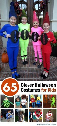 Clever Halloween Costumes for Kids 65 Clever Halloween Costume Ideas for Kids - is your Costume Headquarters! Clever Halloween Costume Ideas for Kids - is your Costume Headquarters! Clever Halloween Costumes, Creative Costumes, Cute Halloween Costumes, Halloween Diy, Halloween Recipe, Women Halloween, Halloween Makeup, Halloween Projects, Halloween Halloween