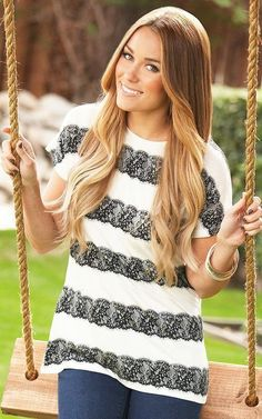 Love the ombre hair! rich golden brown on top and blonde ends. So cute!