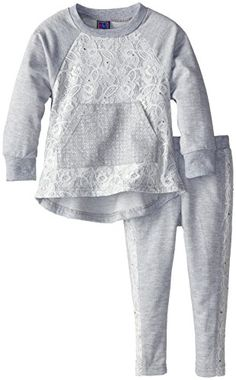 Ok Kids Little Girls' Lace Front French Terry Set, Gray, 3T Ok Kids http://www.amazon.com/dp/B00KNRODYY/ref=cm_sw_r_pi_dp_8tJfvb08RYNWH