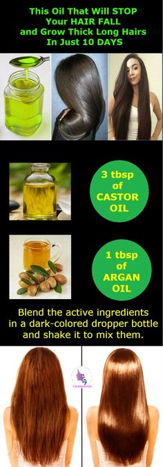 One Oil That Will Stop Your Hair Fall and Grow Thick Long Hairs In Just 10 Days Time!!