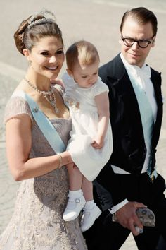 Wedding of Princess Madeleine and Christopher O'Neil-June 8, 2013-Crown Princess Victoria with Princess Estelle and Prince Daniel