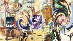 "David Salle | Helena at 5 A.M., 2006 Oil on Linen 96"" x 136"""